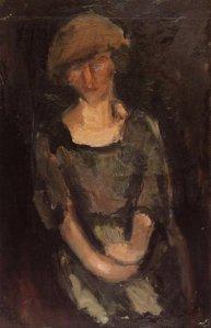 Προσωπογραφία γυναίκας (1917), λάδι σε καμβά 57x37 εκ.