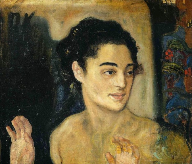 Oskar Kokoschka, Woman with Hands Raised.jpg